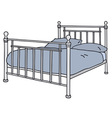 Metal bed vector image