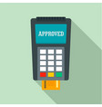 payment approved credit card icon flat style vector image vector image