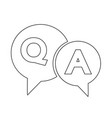 question and answer speech bubble icon vector image