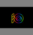 rainbow color colored colorful number 10 logo vector image vector image