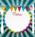 Restaurant or Bistro Menu Retro Design vector image vector image