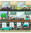 set of car service auto repair concept vector image vector image