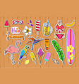 set of fashion summer stickers badges vector image vector image