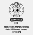 set of football soccer - badge logo and font vector image vector image