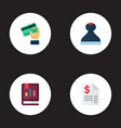 set of recording icons flat style symbols with vector image