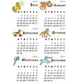 six months calendar 2014 vector image