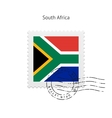 South Africa Flag Postage Stamp vector image