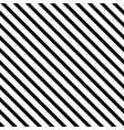 striped seamless pattern with diagonal line black vector image vector image