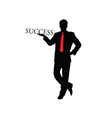 success businessman color vector image