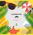 summer web banner background hello summer holiday vector image vector image