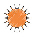 sun symbol isolated vector image vector image
