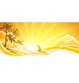 sunny background with palm trees vector image vector image