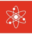 The atom icon Atom symbol Flat vector image