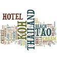 the best koh tao hotel for your thailand holiday vector image vector image