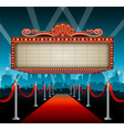 theater sign billboard frame design vector image