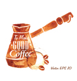 Traces Coffee Turkish Coffee Pot vector image