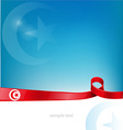 Tunisia flag on background vector image