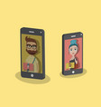 young business people on video call concept vector image