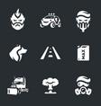 set of post-apocalypse road icons
