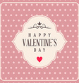 Valentines day typography badge stamp and design vector image