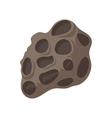Meteorite cartoon icon vector image