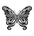 Ornamental butterfly silhouette vector image
