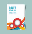 abstract report cover 16 vector image vector image