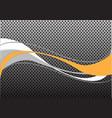 abstract yellow gray white line wave circle mesh vector image