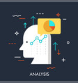 analysis flat concept vector image