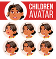 arab muslim girl avatar set kid vector image
