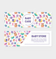 bacarem bastore banner templates with cute vector image vector image