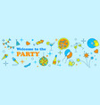 banner or template design for musical party vector image