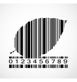 Barcode Autumn Leaf Image vector image vector image