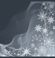 beautiful winter pattern made snowflakes on vector image vector image