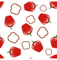 bell red peppers seamless pattern vector image vector image