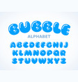 bubble alphabet vector image