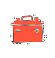 cartoon car battery sign icon in comic style vector image