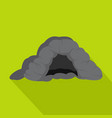 cave icon flat style vector image vector image