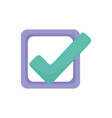 check mark approve like signal icon vector image