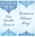 Christmas cute snowflake banner design with a vector image vector image