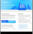 city website template vector image vector image