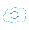 cloud computing download and upload backup hosting vector image