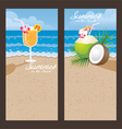 Coconut Cocktail Backdrop vector image vector image