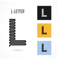 Creative L - letter icon abstract logo design vector image vector image
