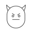devil smile linear icon vector image