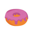donut delicious dessert vector image vector image