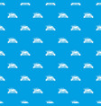 eco car pattern seamless blue vector image