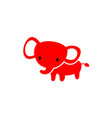 elephant cartoon cute vector image