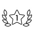first place star award line icon vector image