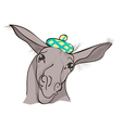 funny donkey vector image vector image